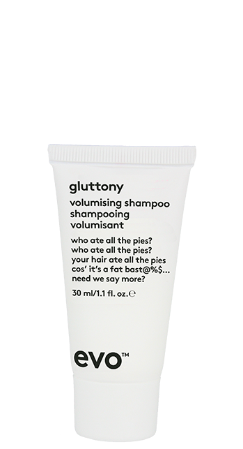evo gluttony volumising shampoo 30ml catalog